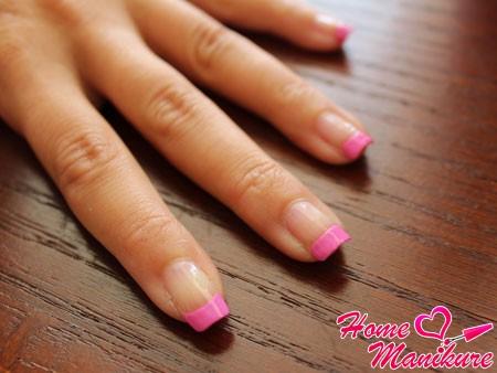 обычный розовый френч