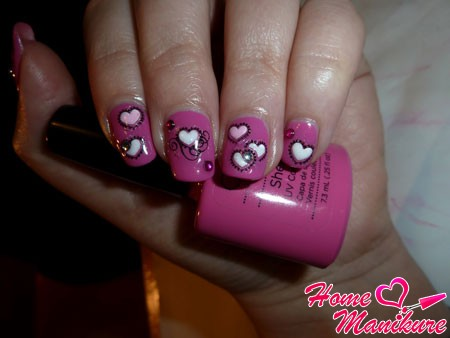 романтичный розовый шилак со стразами