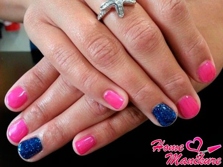 розовые короткие ногти