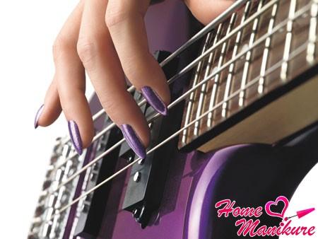 шилак маникюр в фиолетовых тонах