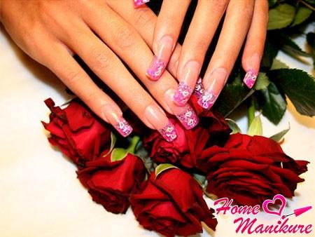 стильный дизайн ногтей на день святого валентина