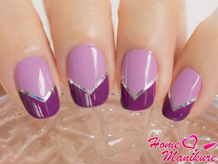 стильный френч в фиолетовых тонах