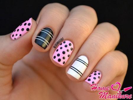 стильный маникюр на маленьких ногтях
