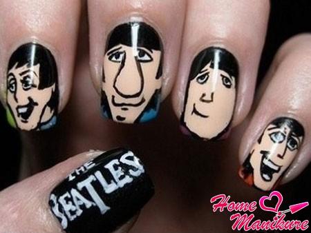 стильный маникюр The Beatles