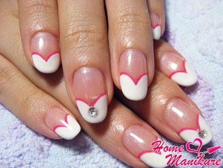 Несложный дизайн ногтей гель лаком