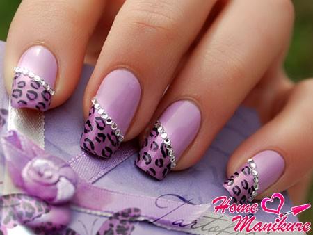 великолепный леопардовый френч в фиолетовых тонах