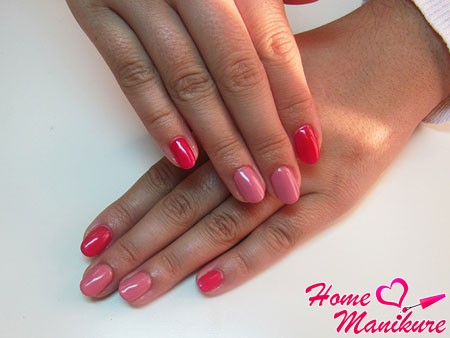 красивый маникюр на овальных ногтях