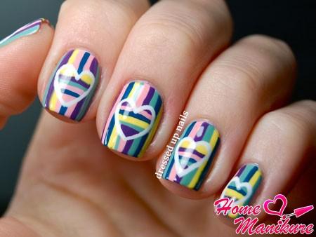 оригинальный и яркий дизайн ногтей