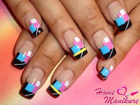 стильный нейл-арт для квадратной формы ногтей