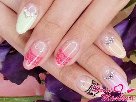 стильный нейл-арт для овальной формы ногтей