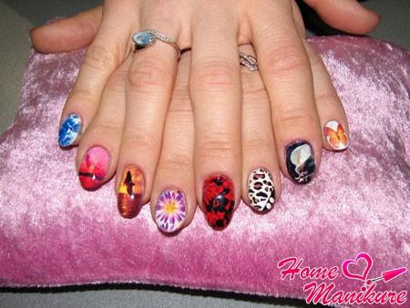 идеи фотодизайна на коротких ногтях