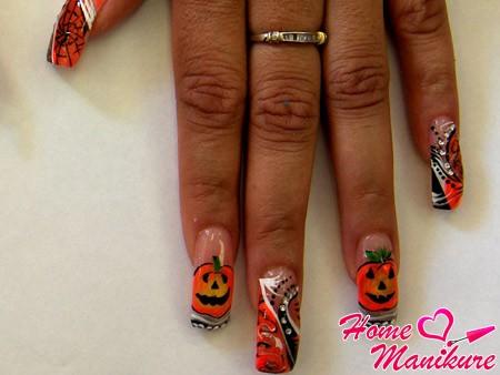 классная роспись ногтей для Хэллоуина