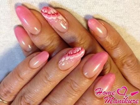 красивые рисунки на ногтях иголкой