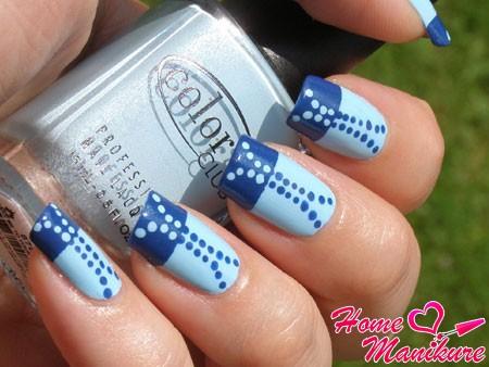 красивый дизайн ногтей дотсом под джинсы