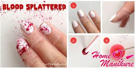 кровяной дизайн ногтей