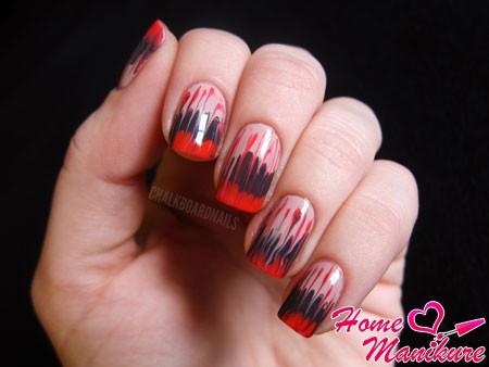 легкий абстрактный дизайн ногтей