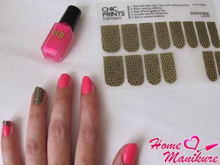 леопардовые наклейки для ногтей