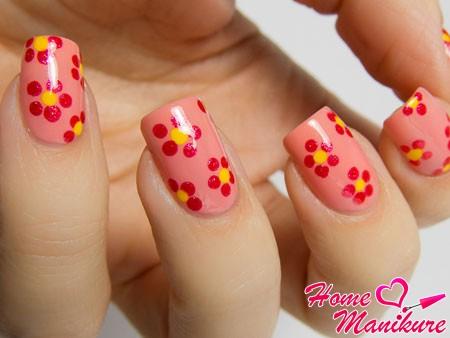 милый цветочный дизайн ногтей дотсом