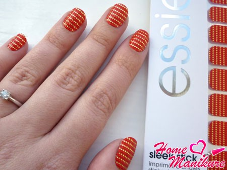 наклейки для дизайна ногтей от essie