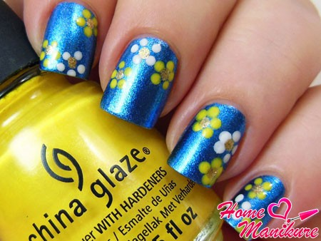 рисунки цветов на ногтях дотсом
