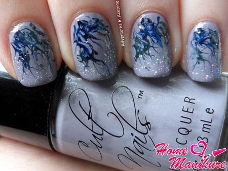 стильный абстрактный дизайн ногтей