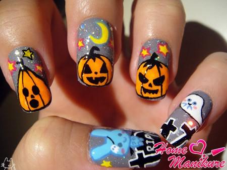 тематические рисунки тыкв на Хэллоуин