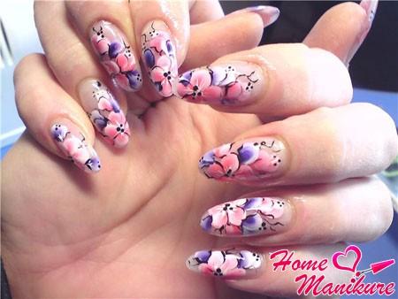 великолепная китайская роспись ногтей