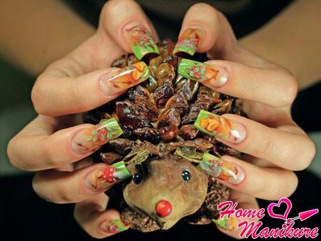 аквариумный дизайн ногтей на осень
