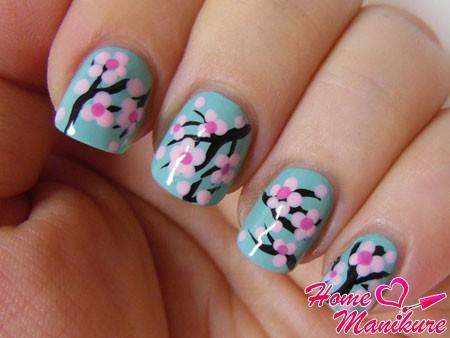 Сакура фото на ногтях