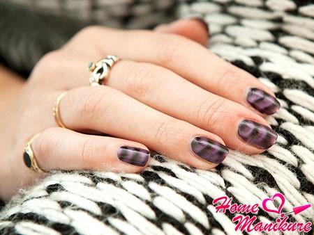 фиолетовый магнитный лак для ногтей