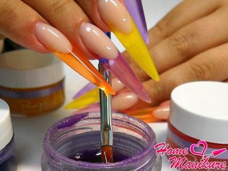 гель для витражного моделирования ногтей