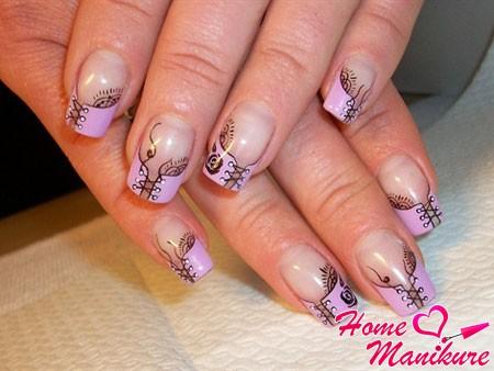 очень красивые рисунки корсетов на ногтях