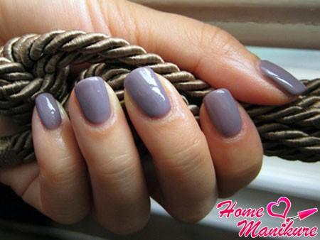 покрытие ногтей биогелем асфальтового цвета