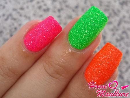 Сахарный эффект на ногтях