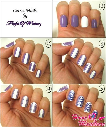 Дизайны для ногтей для начинающих пошагово