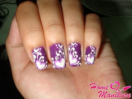 Роспись акриловыми красками на ногтях для начинающих