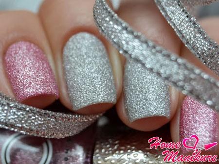 сахарный лак на ногтях разных цветов