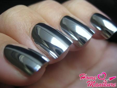 серый металлический minx маникюр