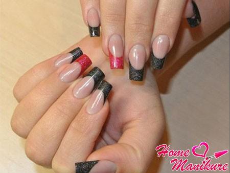 стильное арочное моделирование ногтей
