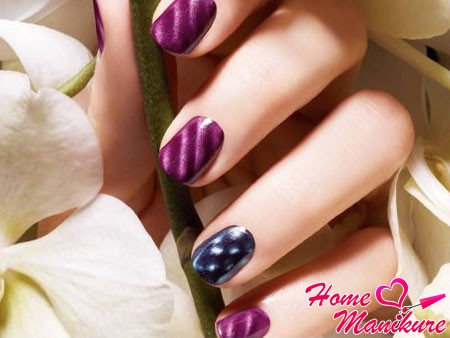 стильный магнитный дизайн ногтей
