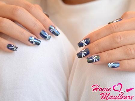 Дизайн ногтей со стрекозой: фото и видео уроки маникюра