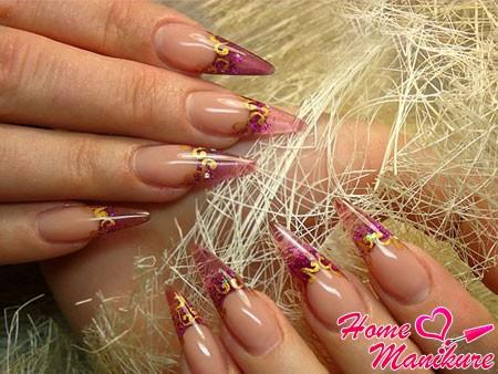 великолепные витражные нарощенные ногти