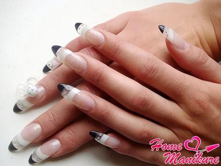 элегантные гелевые ногти для деловой леди