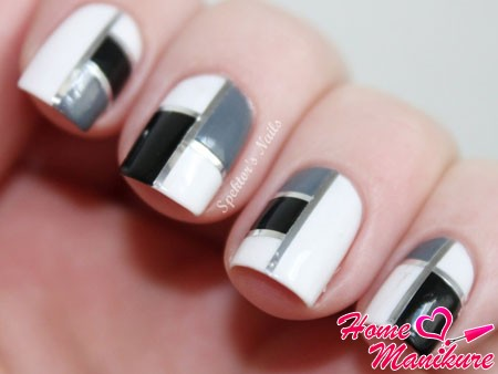 geometric design square nails