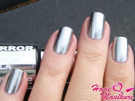 идеальное зеркальное покрытие для ногтей