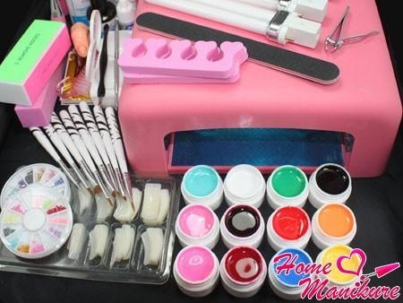 инструменты и материалы для гелевого наращивания ногтей
