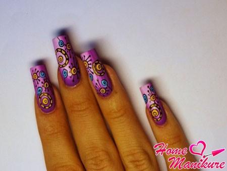 космическая фантазия на красивых ногтях