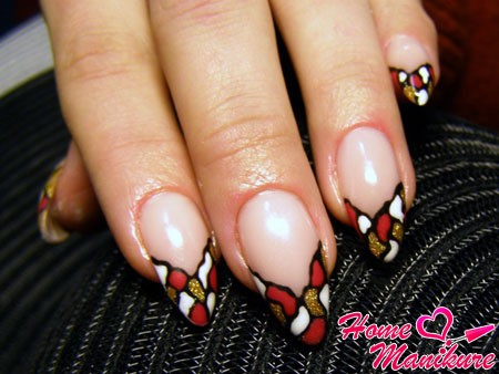 beautiful almond-shaped nails painted