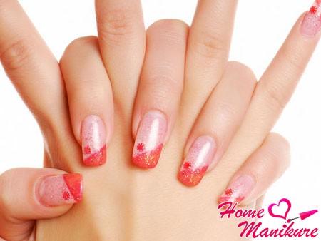 красивые акриловые ногти с модным дизайном