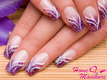 красивые нарощенные гелем ногти